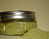 Infused Kosher Sea Salt with Green Tea 2.5oz in Decorative Ball Canning Jar