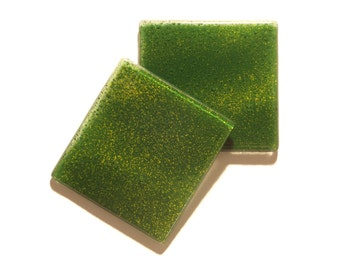 Glass Coasters Meadow Green Set of 2