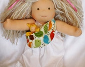 Custom for Jennifer Reversible Waldorf Doll Sling Dinos and Dots