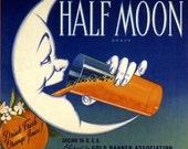 Redlands Half Moon Orange Citrus Fruit Crate Label Art Print