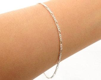 Delicate Silver Bracelet, Sterling Silver Chain Bracelet, Thin and feminine, Minimum Jewelry,  Minimalist, everyday jewelry - Fifi LaBonge-
