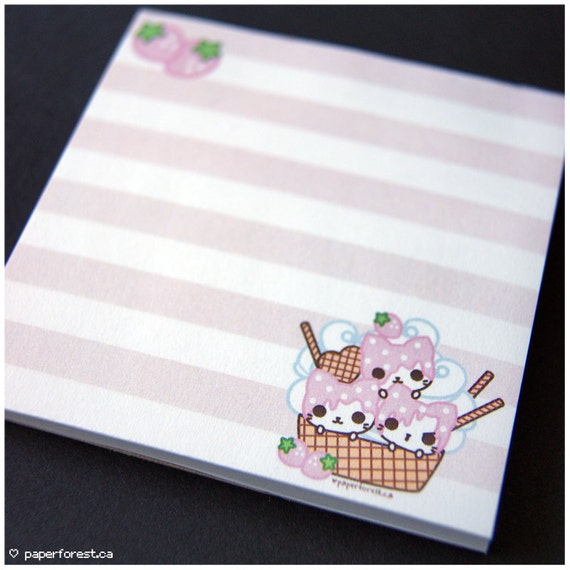 Ice Cream Kitties Memo Pad (Last One!)