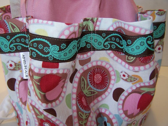 Sweet Pink Bingo Bag, Cosmetic Bag, Travel Bag, 8 pocket Organizer bag