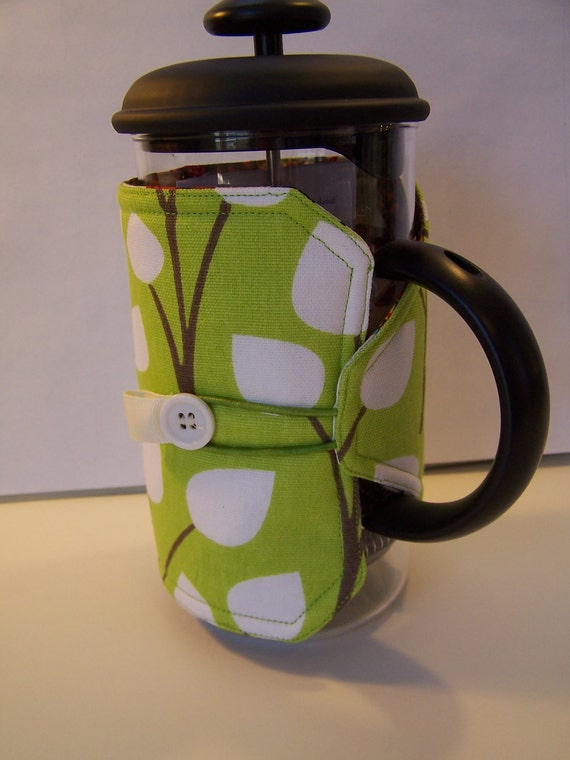 Green Spring French Press Coffee Maker Cozy, Coffee Press Cozie, 4-6 cup Coffee Maker Cover