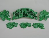 Top Of The Morning Sign with Shamrocks. Hand Painted Ready To Use