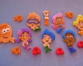 Bubble Guppies Fondant Cupcake Toppers