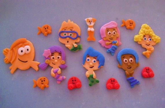 bubble guppies cake toppers guppies fondant cupcake toppers 2100