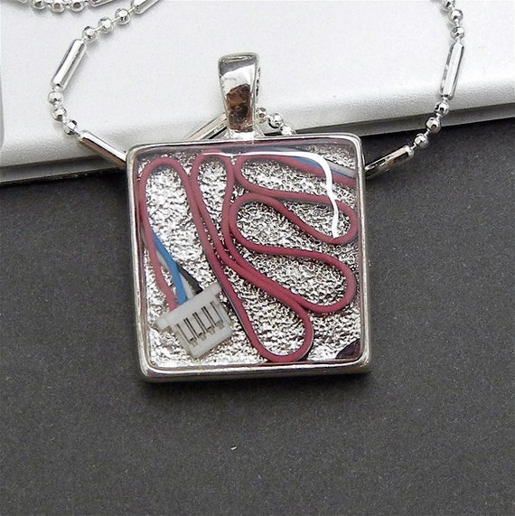 Pink Blue White Cable Pendant
