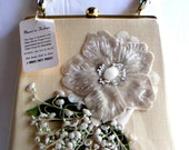 Vintage Vinyl Handbag - A Morris White Product, Mad Man, 1960s Fashion