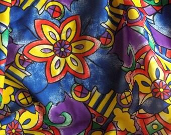 Vintage Multi-Color Silk Scarf