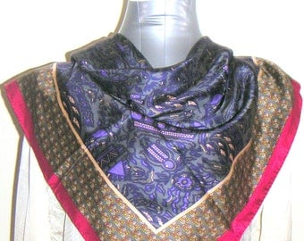 Vintage Silk Scarf by Anne Klein,Women Accessory,Birthday Gift