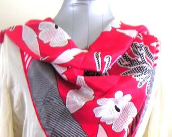 Vintage Silk Scarf by Oscar de la Renta FREE Shipping (USA Only)