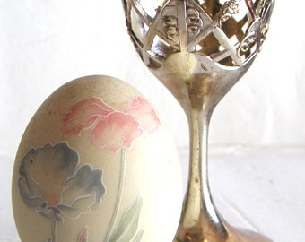 Vintage Hand Painted Decorative Ceramic Egg