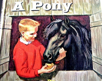 Vintage Children's Book - Little Black, A Pony by Walter Farley (1961), Juvenile,Young Readers