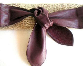 Vintage  Belt, Stretch Macrame and Leather