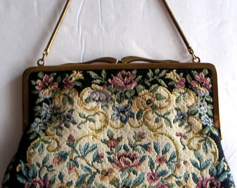 Vintage Tapestry Purse by Mantessa, Made in Western-Germany