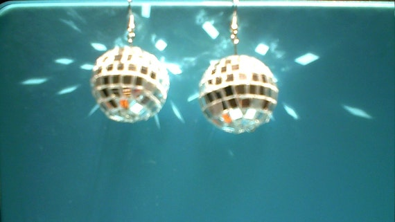 Vintage Earrings. Disco Ball Earrings, Dancing with the Stars,Saturday Night Fever,Disco,Dancing Queen