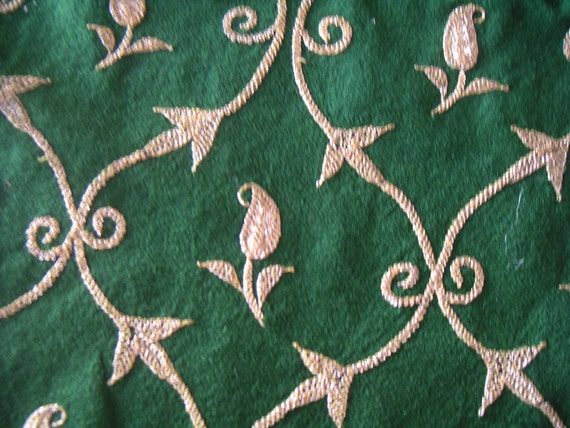 RESERVED For Chan Mandy Vintage Crewel Embroidered Wool Shaw/Table Runner/Wall Hanging/Piano Shawl