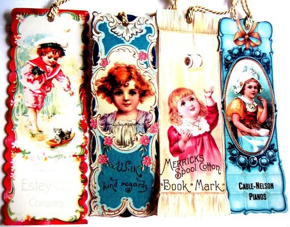 Vintage Bookmarks, Paper Ephemera,Advertisements
