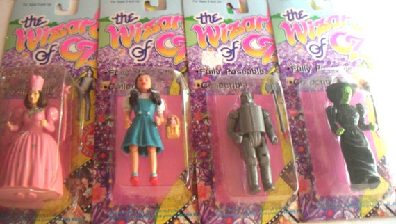 Vintage Wizard of Oz Poseable Dolls/Action Figures Commemorating the 50th Anniversary in Original Packaging, 1988 Multi Toy