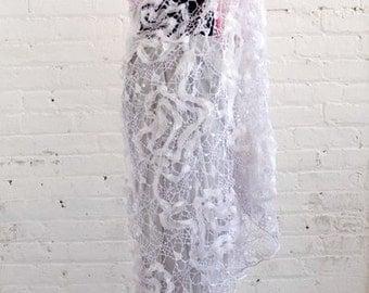 Make Out Artist Silk and Crochet Sari