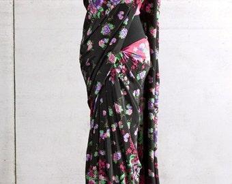 Nobility & Blossoms Silk Sari