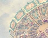 Carousel, Carousel Art, Carnival Photography, Carnival Rides, Pastel Photography, Product Photography, Nursery Artwork, Custom Baby Gift