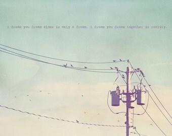 Birds On A Wire, Birds Singing, Singing Birds, Nursery Art, Bird Photography, Gift Idea, Bird Art, Bird Photo, Bird Gift, Bird Print