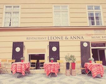 Restaurant Decor, Kitchen Art, Kitchen Art Decor, Kitchen Wall Art, Prague Photo, Prague Photography, Leone And Anna, Nina's Music Bar