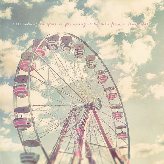Ferris Wheel Art, Ferris Wheel Decor, Ferris Wheel Print, Pastel Photography, Custom Baby Gift, Carnival, Nursery Artwork, Baby Artwork