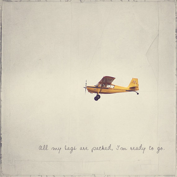 Yellow Airplane, Boy's Room Decor, Piper J-3 Cub, Gift For Pilot, Inspirational Quote, Photo Quote, Propeller Plane, Aircraft Photography