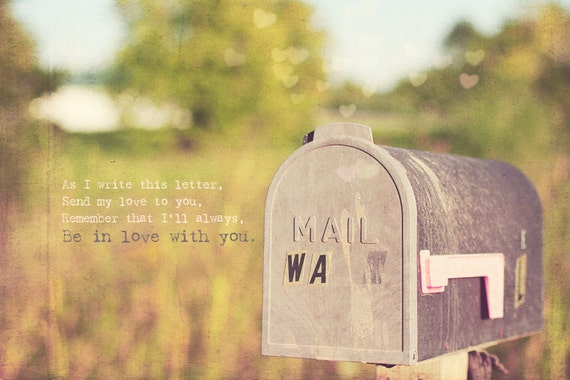 Gift For Her, Pink Mailbox, Room Decor, Shabby Chic Art, Urban Decor, Valentine's Day Gift, Vintage Home Decor, Wall Decor, Home Art Decor