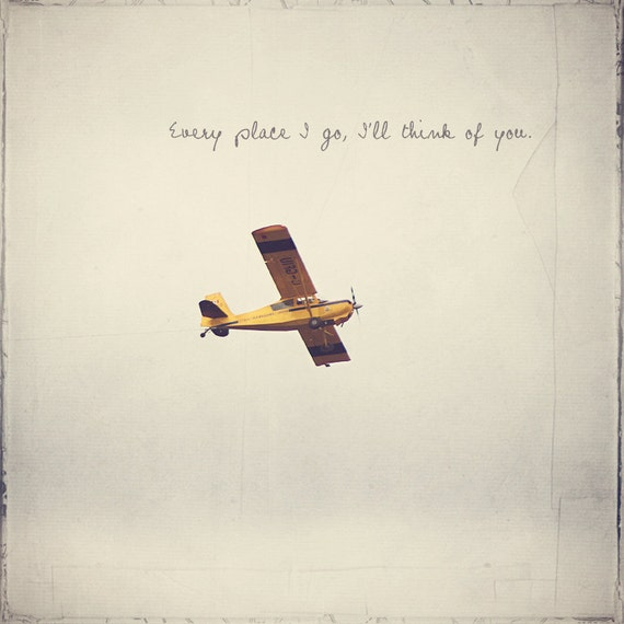Yellow Plane, Yellow Airplane, Boy's Room Decor, Piper J-3 Cub, Gift For Pilot, Airplane Photography, Propeller Plane, Long Distance Love