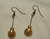 Earrings made with vintage beads