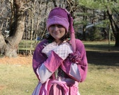 """Upcycled sweater coat Soft and Warm """"Pink Rose Passion"""" Bustle  elf pixie Coat, WINTER END SALE"""