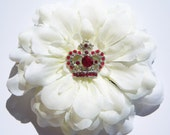 Hair Clip Crown Jewel Flower