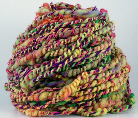 Art Yarn Handspun Wool with Other Yarns CRAZY BEACH DAY
