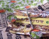Floral Fantasy Fabric Metal Resin Bobby Pins