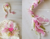 OOAK Crocheted Earflap Cap with Braids