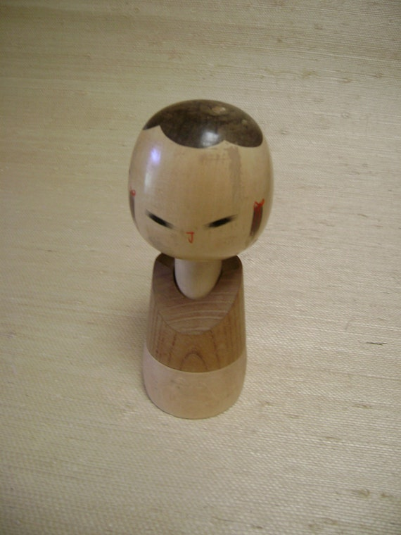 "Kokeshi Doll, Japanese Vintage 7"" Tall"