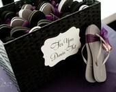 Ornate Wedding Sign - For Your Flip Flop Basket - Dancing Shoes