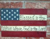 Bible Verse American Flag