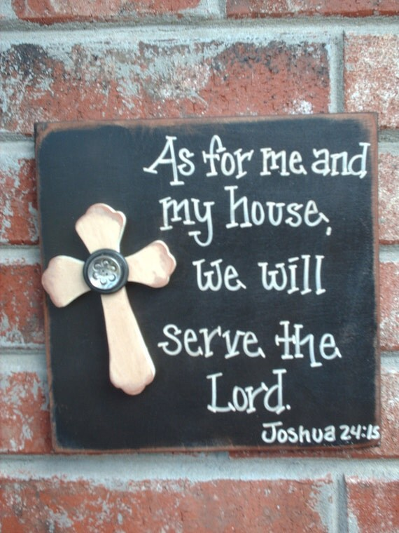 Bible verse sign rustic home decor by shopfanniejanes on etsy for Bible verse decor