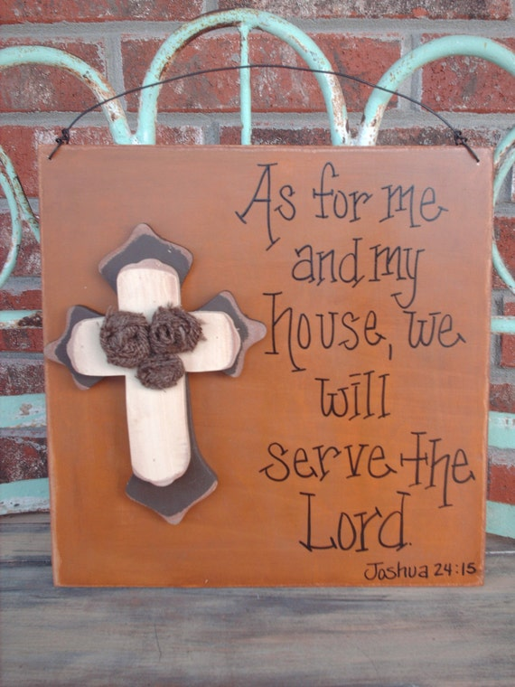 Crosses and rustic Sign  scripture Rustic Scripture signs with Rosettes