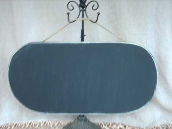 Rustic Oblong Chalkboard Wedding Photo Prop and Decor