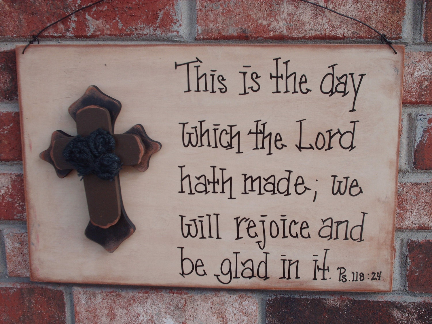 Rustic bible verse sign home decor for Bible verse decor