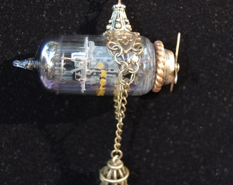 Steampunk vacuum tube Zeppelin
