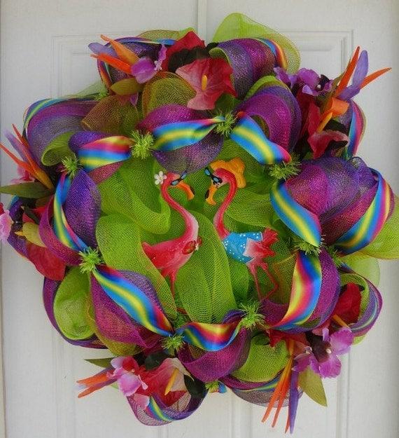 Let's Luau Mesh Wreath