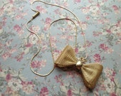 Golden Dapper Bow-tie Necklace
