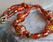 Orange Glass Choker----ON SALE----